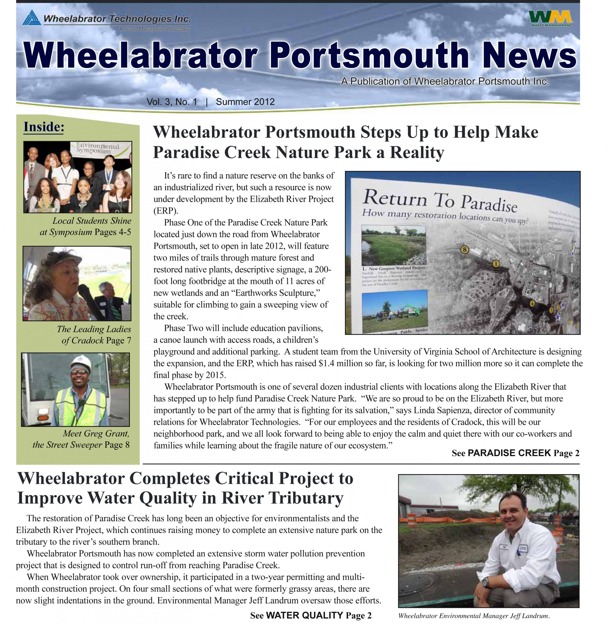Wheelabrator Portsmouth puts out this newsletter twice a year.