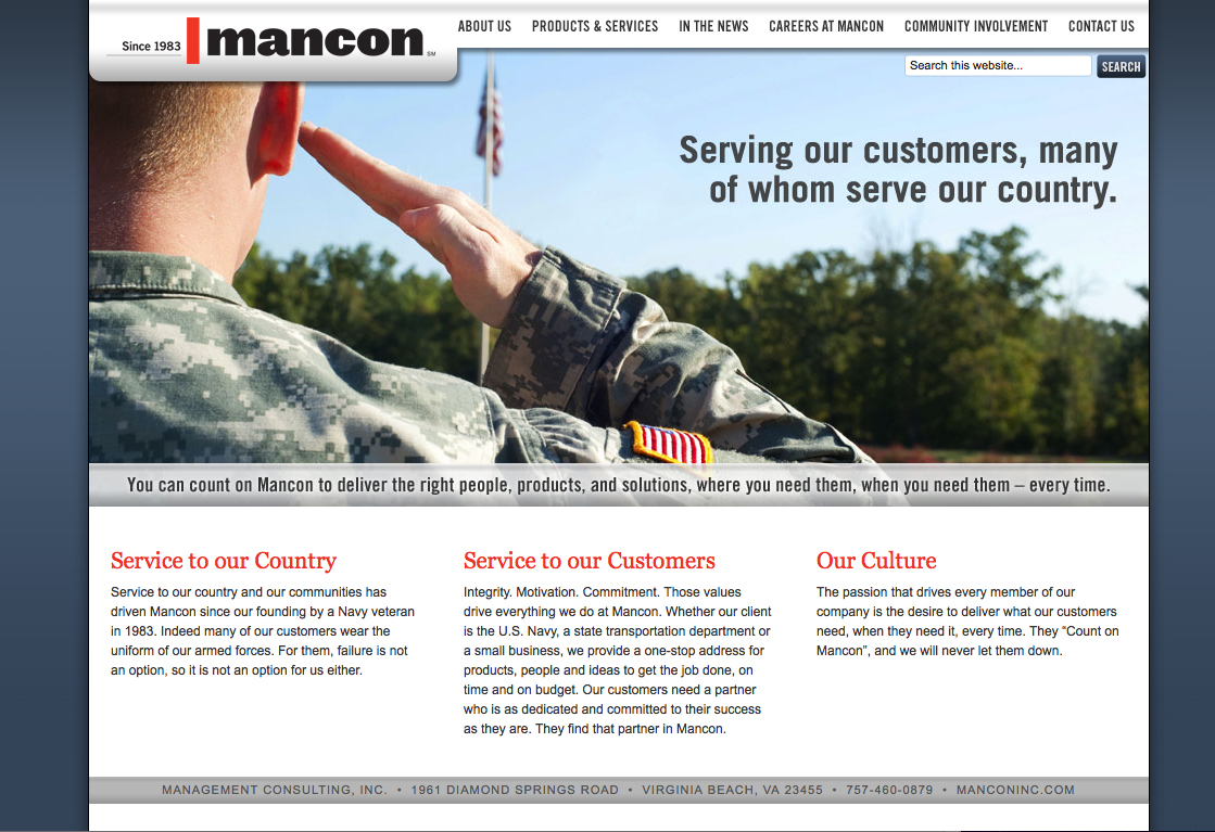 Mancon Inc Website